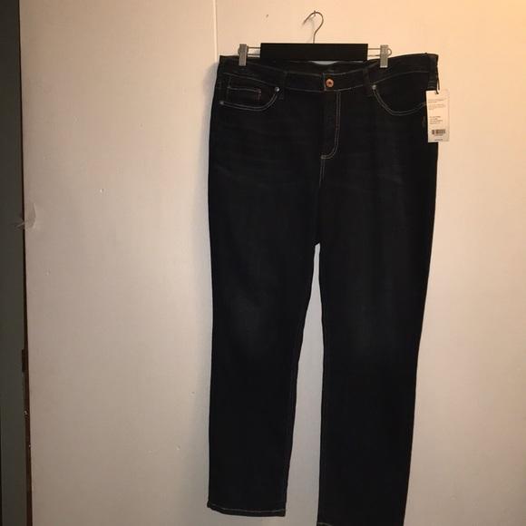 Deep Indigo Silver Jeans NWT